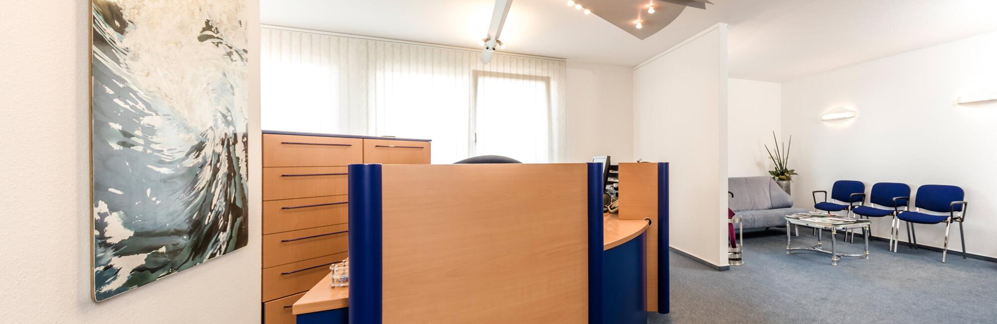 Zahnarzt Köln Rondorf - Tiddens - Empfangsbereich der Praxis